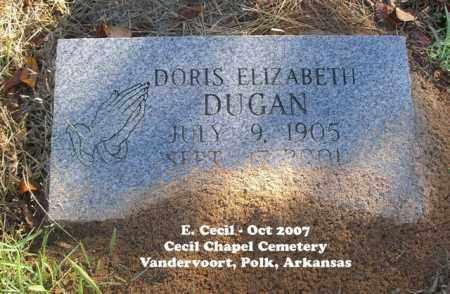 DUGAN, DORIS ELIZABETH - Polk County, Arkansas | DORIS ELIZABETH DUGAN - Arkansas Gravestone Photos
