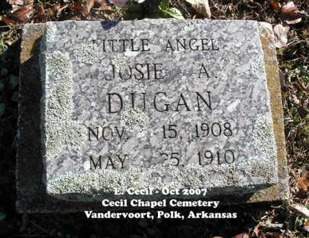 DUGAN, JOSIE A. - Polk County, Arkansas | JOSIE A. DUGAN - Arkansas Gravestone Photos