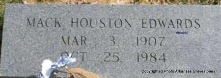EDWARDS, MACK HOUSTON - Polk County, Arkansas   MACK HOUSTON EDWARDS - Arkansas Gravestone Photos