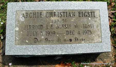 EIGSTI, ARCHIE CHRISTIAN - Polk County, Arkansas   ARCHIE CHRISTIAN EIGSTI - Arkansas Gravestone Photos