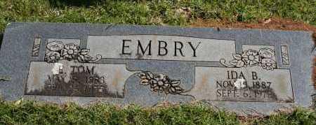EMBRY, E. TOM - Polk County, Arkansas | E. TOM EMBRY - Arkansas Gravestone Photos