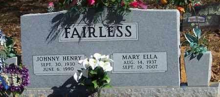 FAIRLESS, MARY ELLA - Polk County, Arkansas | MARY ELLA FAIRLESS - Arkansas Gravestone Photos