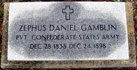 GAMBLIN (VETERAN CSA), ZEPHUS DANIEL - Polk County, Arkansas | ZEPHUS DANIEL GAMBLIN (VETERAN CSA) - Arkansas Gravestone Photos