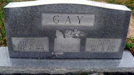GAY, FLOYD EDWARD - Polk County, Arkansas | FLOYD EDWARD GAY - Arkansas Gravestone Photos