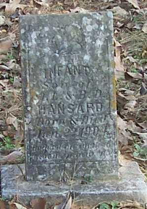HANSARD, INFANT SON - Polk County, Arkansas | INFANT SON HANSARD - Arkansas Gravestone Photos