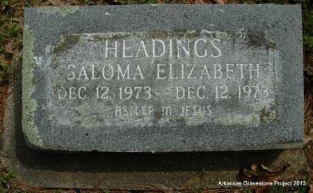 HEADINGS, SALOMA ELIZABETH - Polk County, Arkansas | SALOMA ELIZABETH HEADINGS - Arkansas Gravestone Photos
