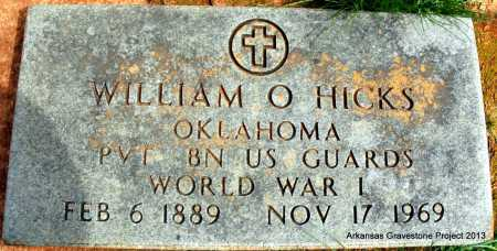 HICKS (VETERAN WWI), WILLIAM O - Polk County, Arkansas | WILLIAM O HICKS (VETERAN WWI) - Arkansas Gravestone Photos