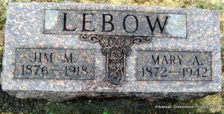 SANDERS LEBOW, MARY A - Polk County, Arkansas | MARY A SANDERS LEBOW - Arkansas Gravestone Photos
