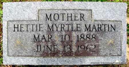 MARTIN, HETTIE MYRTLE - Polk County, Arkansas   HETTIE MYRTLE MARTIN - Arkansas Gravestone Photos