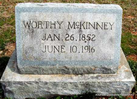 MCKINNEY, WORTHY - Polk County, Arkansas | WORTHY MCKINNEY - Arkansas Gravestone Photos