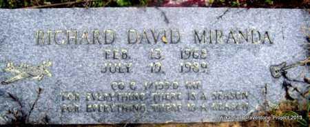 MIRANDA (VETERAN), RICHARD DAVID - Polk County, Arkansas | RICHARD DAVID MIRANDA (VETERAN) - Arkansas Gravestone Photos