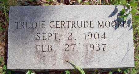 MOORE, TRUDIE GERTRUDE - Polk County, Arkansas | TRUDIE GERTRUDE MOORE - Arkansas Gravestone Photos
