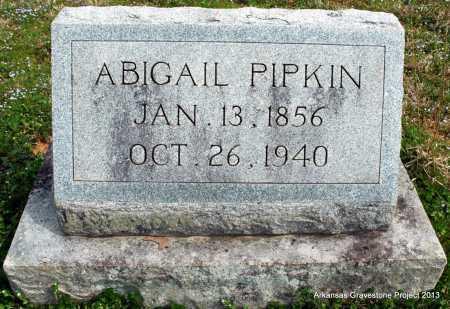 PIPKIN, ABIGAIL - Polk County, Arkansas | ABIGAIL PIPKIN - Arkansas Gravestone Photos