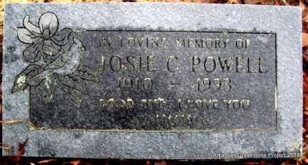 "POWELL, JOSEPHINA ""JOSIE"" CATHERINE - Polk County, Arkansas   JOSEPHINA ""JOSIE"" CATHERINE POWELL - Arkansas Gravestone Photos"