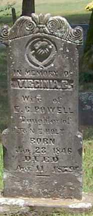 POWELL, VIRGINIA B. - Polk County, Arkansas   VIRGINIA B. POWELL - Arkansas Gravestone Photos