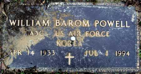 POWELL (VETERAN KOR), WILLIAM BAROM - Polk County, Arkansas | WILLIAM BAROM POWELL (VETERAN KOR) - Arkansas Gravestone Photos