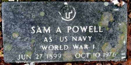 POWELL (VETERAN WWI), SAM A - Polk County, Arkansas   SAM A POWELL (VETERAN WWI) - Arkansas Gravestone Photos