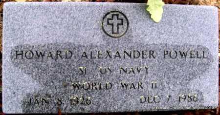 POWELL (VETERAN WWII), HOWARD ALEXANDER - Polk County, Arkansas | HOWARD ALEXANDER POWELL (VETERAN WWII) - Arkansas Gravestone Photos