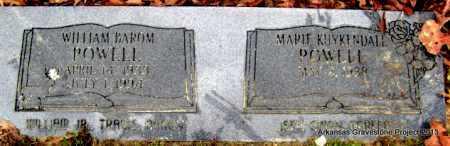 POWELL, WILLIAM BAROM - Polk County, Arkansas | WILLIAM BAROM POWELL - Arkansas Gravestone Photos