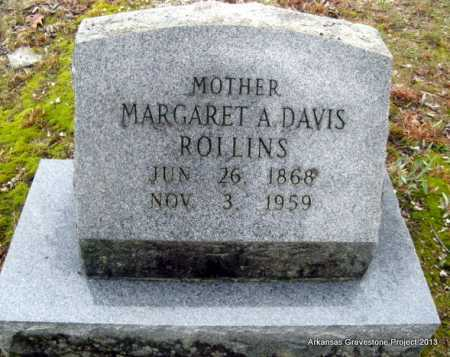 DAVIS ROLLINS, MARGARET A - Polk County, Arkansas | MARGARET A DAVIS ROLLINS - Arkansas Gravestone Photos