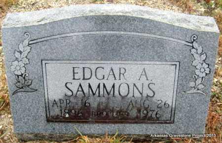 SAMMONS, EDGAR A - Polk County, Arkansas   EDGAR A SAMMONS - Arkansas Gravestone Photos