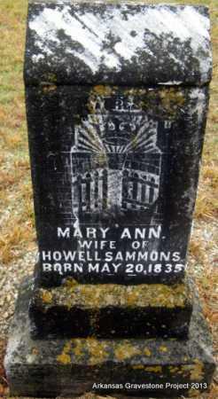 SAMMONS, MARY ANN - Polk County, Arkansas | MARY ANN SAMMONS - Arkansas Gravestone Photos