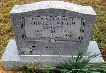 SARGENT, CHARLES WILLIAM - Polk County, Arkansas | CHARLES WILLIAM SARGENT - Arkansas Gravestone Photos