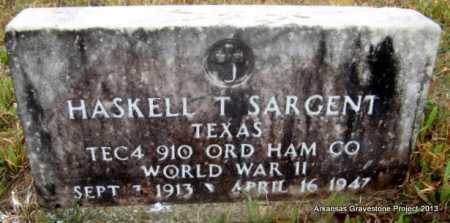 SARGENT (VETERAN WWII), HASKELL THOMAS - Polk County, Arkansas | HASKELL THOMAS SARGENT (VETERAN WWII) - Arkansas Gravestone Photos