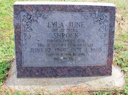 HOSTETLER SHROCK, LYLA JUNE - Polk County, Arkansas | LYLA JUNE HOSTETLER SHROCK - Arkansas Gravestone Photos