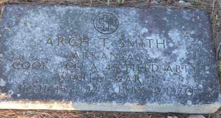 SMITH (VETERAN WWI), ARCH T - Polk County, Arkansas | ARCH T SMITH (VETERAN WWI) - Arkansas Gravestone Photos