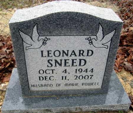SNEED, LEONARD - Polk County, Arkansas   LEONARD SNEED - Arkansas Gravestone Photos