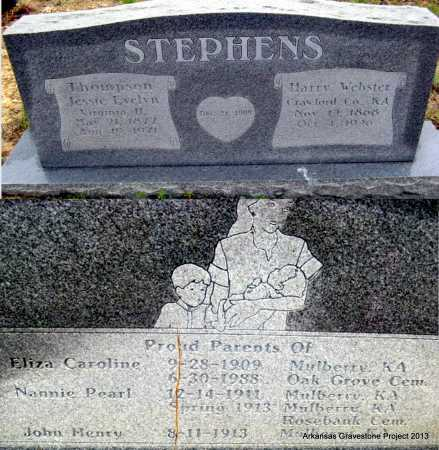 STEPHENS, HARRY WEBSTER - Polk County, Arkansas | HARRY WEBSTER STEPHENS - Arkansas Gravestone Photos