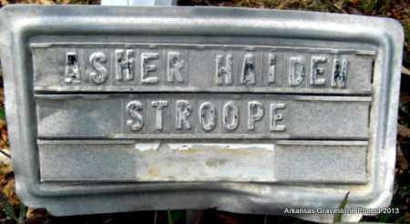 STROOPE, ASHER HAIDEN - Polk County, Arkansas | ASHER HAIDEN STROOPE - Arkansas Gravestone Photos