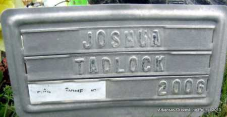 TADLOCK, JOSHUA ALVIN - Polk County, Arkansas | JOSHUA ALVIN TADLOCK - Arkansas Gravestone Photos