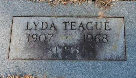 TEAGUE, LYDA - Polk County, Arkansas | LYDA TEAGUE - Arkansas Gravestone Photos