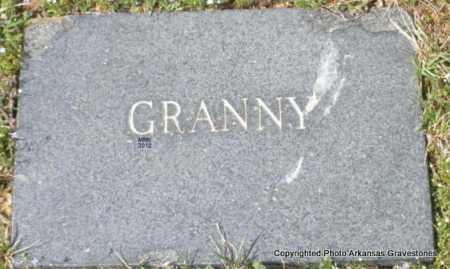 UNKNOWN, GRANNY - Polk County, Arkansas | GRANNY UNKNOWN - Arkansas Gravestone Photos