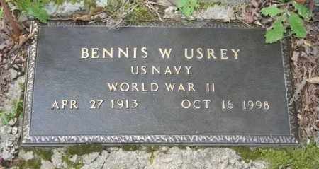 USREY (VETERAN WWII), BENNIS WASHINGTON - Polk County, Arkansas | BENNIS WASHINGTON USREY (VETERAN WWII) - Arkansas Gravestone Photos