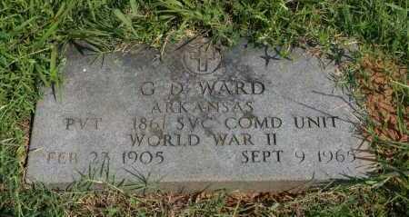 WARD (VETERAN WWII), G D - Polk County, Arkansas | G D WARD (VETERAN WWII) - Arkansas Gravestone Photos