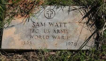 WATT (VETERAN WWI), SAM - Polk County, Arkansas | SAM WATT (VETERAN WWI) - Arkansas Gravestone Photos