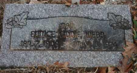 WEBB, EUNICE LIDDIE - Polk County, Arkansas | EUNICE LIDDIE WEBB - Arkansas Gravestone Photos