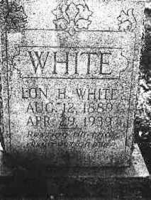 WHITE, LON H. - Polk County, Arkansas | LON H. WHITE - Arkansas Gravestone Photos