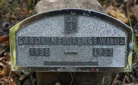 WILDS, CAROLYN FLORENCE - Polk County, Arkansas | CAROLYN FLORENCE WILDS - Arkansas Gravestone Photos