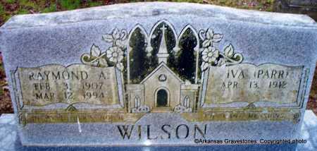 WILSON, RAYMOND ALVIN - Polk County, Arkansas   RAYMOND ALVIN WILSON - Arkansas Gravestone Photos