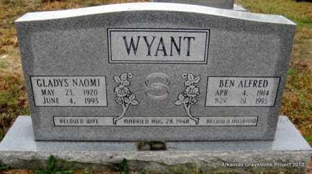 WYANT, GLADYS NAOMI - Polk County, Arkansas   GLADYS NAOMI WYANT - Arkansas Gravestone Photos
