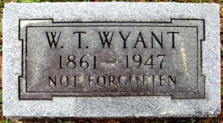 WYANT, W(ILLIAM) T - Polk County, Arkansas | W(ILLIAM) T WYANT - Arkansas Gravestone Photos