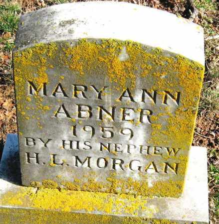 ABNER, MARY ANN - Pope County, Arkansas | MARY ANN ABNER - Arkansas Gravestone Photos