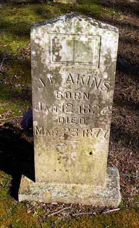 AKINS, J  E - Pope County, Arkansas | J  E AKINS - Arkansas Gravestone Photos