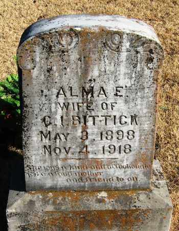 BITTICK, ALMA E - Pope County, Arkansas | ALMA E BITTICK - Arkansas Gravestone Photos