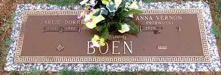 BOEN, CHARLIE DORRE - Pope County, Arkansas | CHARLIE DORRE BOEN - Arkansas Gravestone Photos