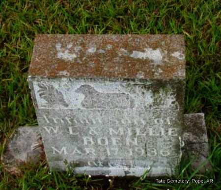 BOEN, INFANT SON - Pope County, Arkansas   INFANT SON BOEN - Arkansas Gravestone Photos